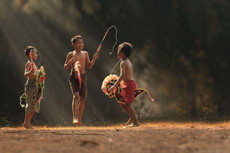 Herman Damar, la alegría de los niños en Indonesia.