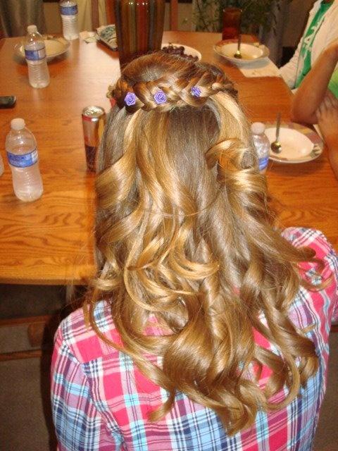 Bridesmaid hair :) by Amy at Hair Etc. Pratt, KS
