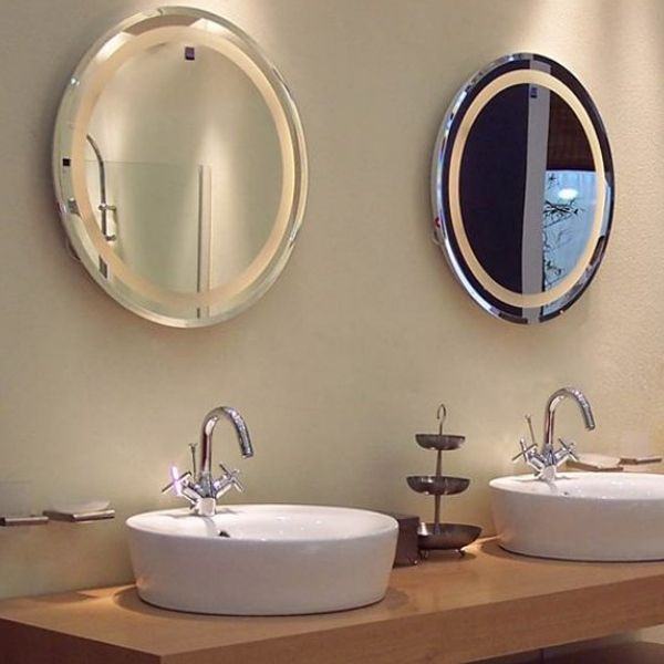 hotel bathroom t5 round led backlit mirror buy led backlit mirrorround backlit hotel t5 backlit mirror product on alibabacom