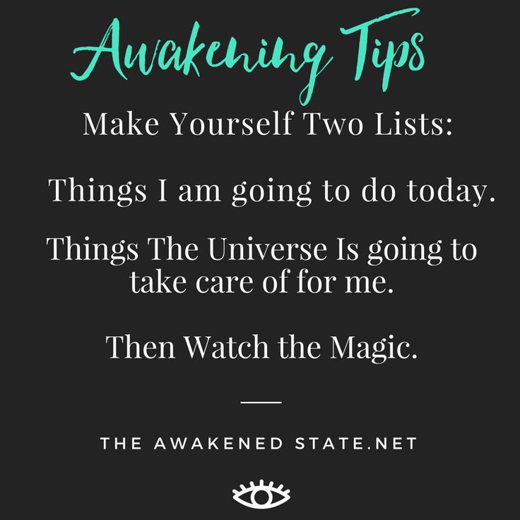 This is a fun trick i learned from Abraham, Whenever you are overstressed or overwhelmed stop and create two lists. What you REALLY want to do today and what things the universe can help you with today. Take a deep breath Then watch the magic unfold...