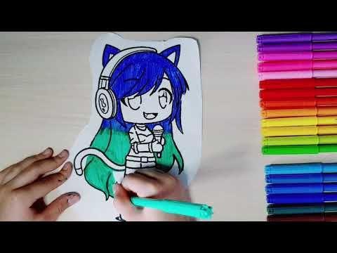 Gacha Life #3 Coloring раскраска Гача Лайф, девочка в ...