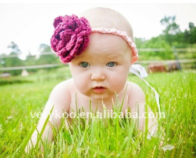 head band: Baby Hat Knit, Head Bands, Newborns Baby, Crochet 3, Baby Hats, Yarns Magic, Headbands Multicolored, Crochet Flower Headbands, Crochet Flowers Headbands