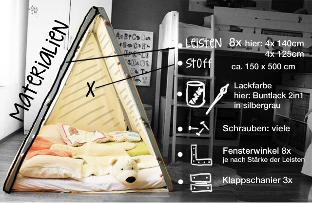 17 best ideas about zelt kinderzimmer on pinterest tipi. Black Bedroom Furniture Sets. Home Design Ideas