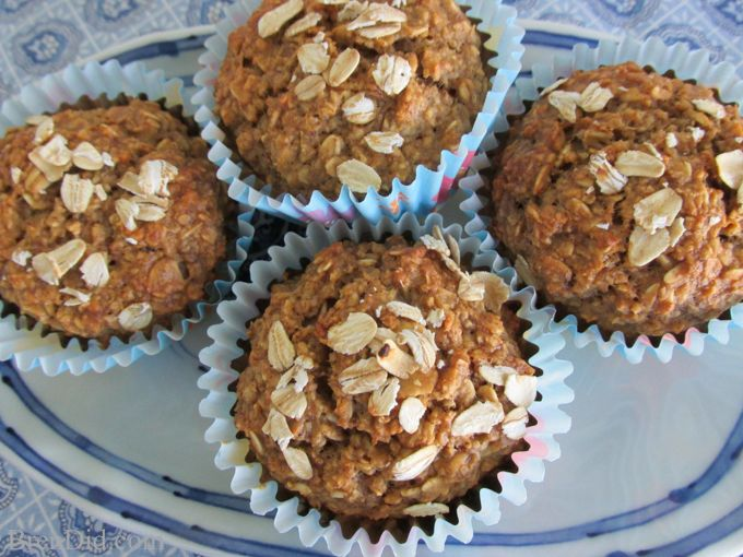 healthy fruit muffins no sugar fruit decorations