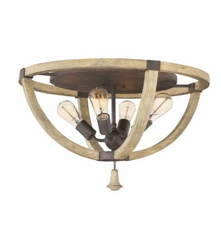 Fredrick Ramond FR40571IRR Middlefield 4 Light 24 inch Iron Rust Flush Mount Ceiling Light #LightingNewYork