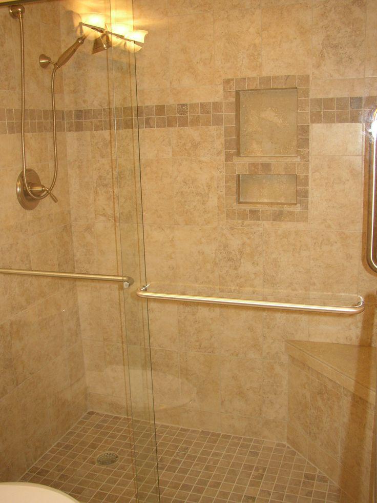Rustic Ceramic Shower Wall Niche Shelf Decofurnish