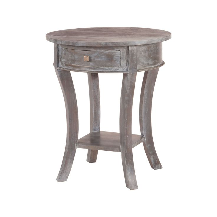 Oval Mahogany Side Table In Grey Stain No.4