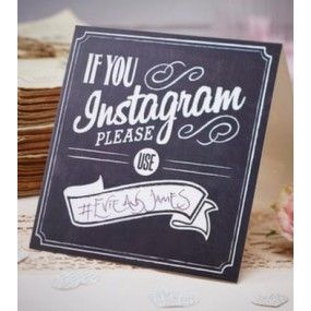 Instagram skilt «If you instagram»