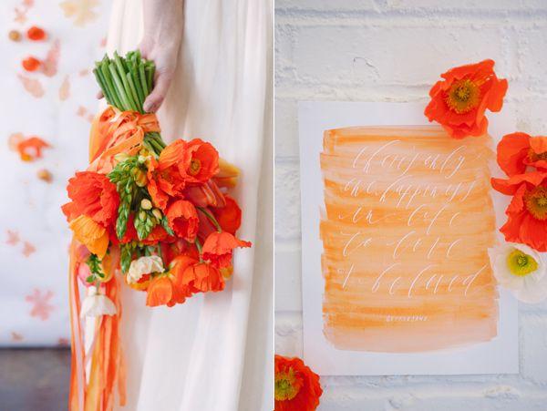 orange wedding inspiration - photo by Sweet Root Village http://ruffledblog.com/orange-crush-wedding-ideas