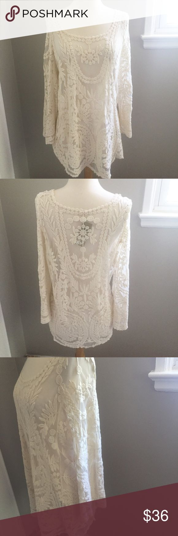 """NWT Lace Blouse NWT/ Feel free to ask any questions, make a reasonable offer, or add to a bundle or 15% off 2 or more items! 😃 Measurements Bust: Almost 18"""" Length: 27"""" Tops Blouses"""