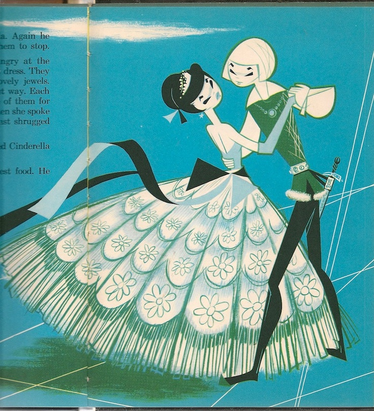 ''Cinderella'' by Perrault, retold by Doris L Miller, illustrated by Pablo Ramirez. The World Publishing Company, 1965. Via Etsy