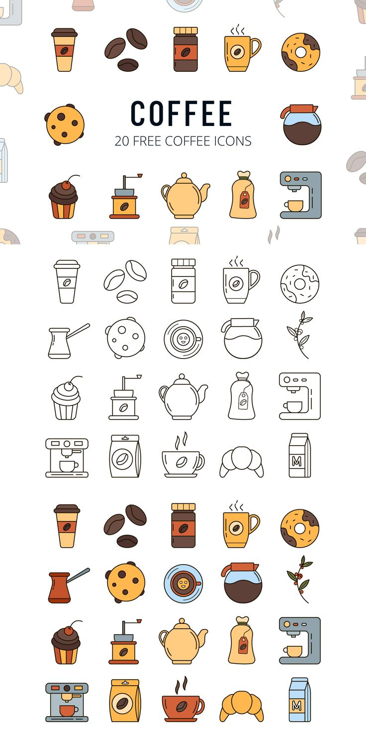 We publish Coffee Vector Free Icon Set
