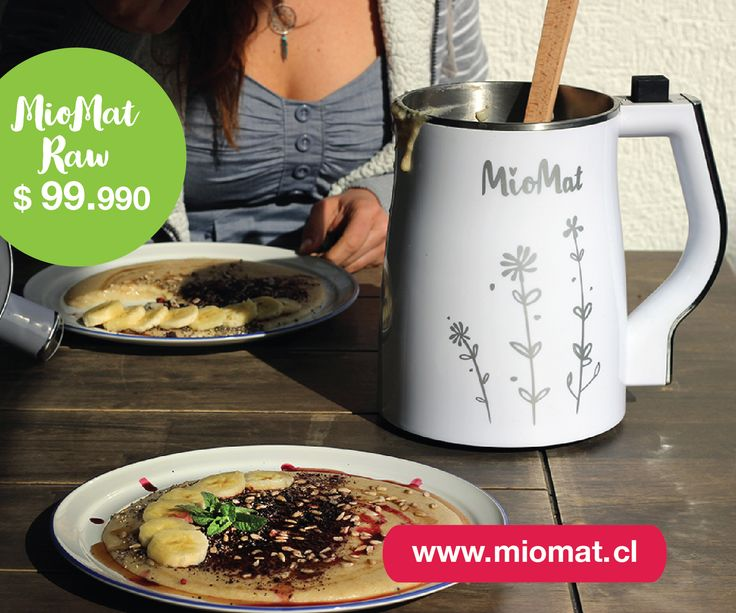 En MioMat puedes hacer todo tipo de leches, crudas, cocinadas, batidos, jugos, cremas, papillas y sopas de una forma muy simple, solo incorporar los alimentos, agua y apretar un botón!!  te permite tiempo libre y alimentarte sano.
