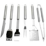Barbeque Tool Set: BT Outdoor Stainless Steel Barbeque set: 6 PC  $39.99: Steel Barbeque, Barbeque Tools, Barbeque Sets