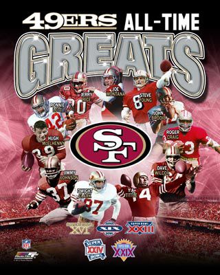 San Francisco 49Er Super Bowls | San Francisco 49ers All-Time Greats (11 Legends, 5 Super Bowls ...