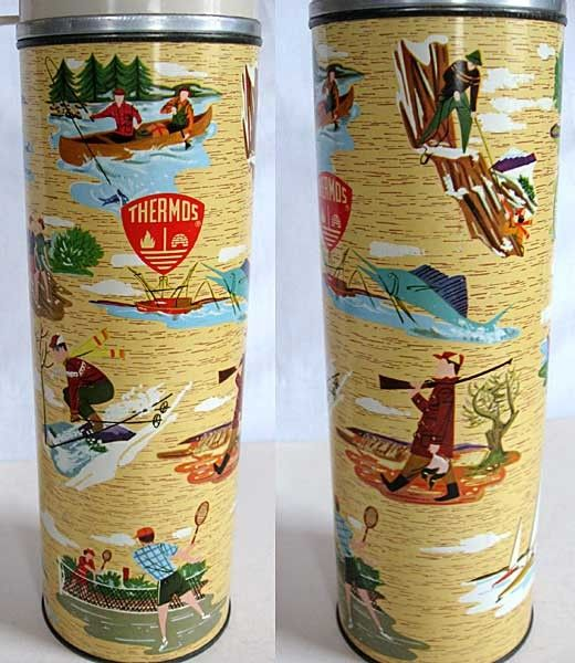 1960 quart size thermos, The Sporsman by American Thermos Products