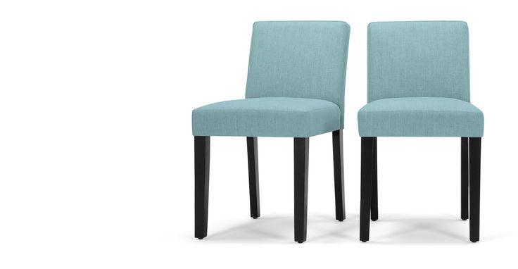 2 x Wilton Dining Chairs, Teira Blue