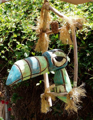 One of my favorite (Tiki Room) toucan Birds (blue-green-bird) by Tiki tOny