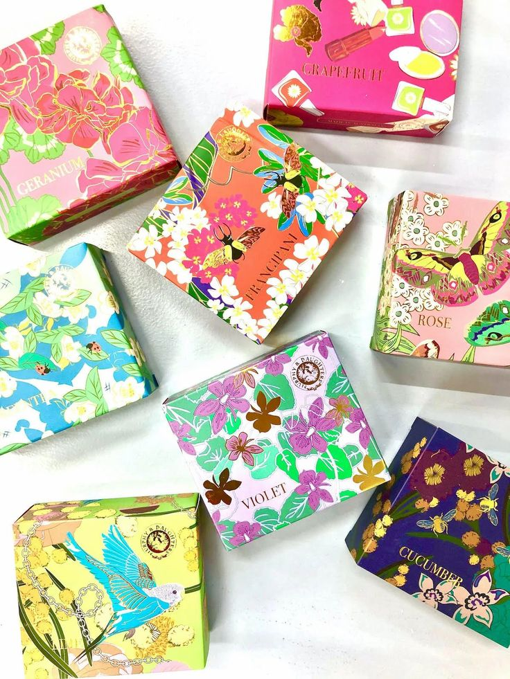 Hostess gifts soap packaging design colorful gift