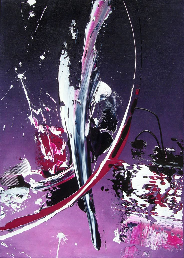 Painting Marc Lange purple haze 50x70cm