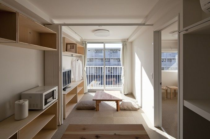 Interno dei Container Temporary Housing a Onagawa in Giappone - #Shigeru #Ban