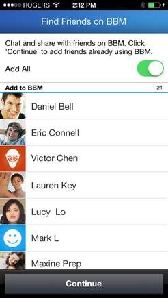 BlackBerry Messenger adds 'Find Friends on BBM' feature to Android - http://www.aivanet.com/2014/02/blackberry-messenger-adds-find-friends-on-bbm-feature-to-android/
