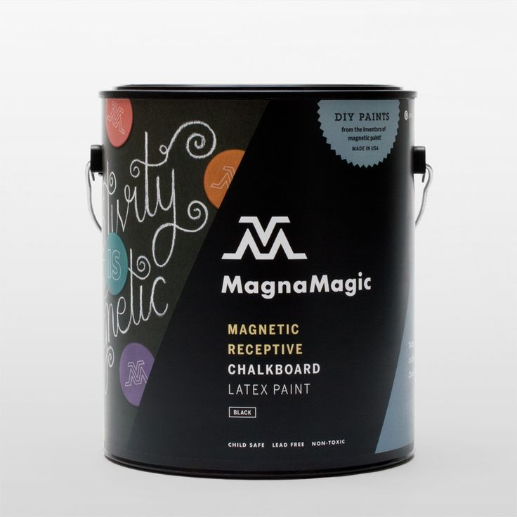 Use for chalkboard paint wall in Kitchen - MagnaMagic Magnetic Receptive Chalkboard Paint