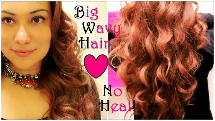 How To Get Big Wavy Curls With No Heat