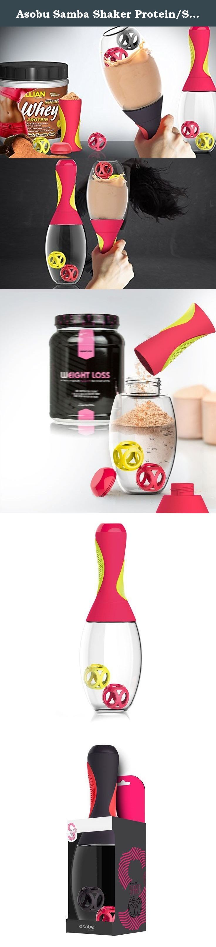 Asobu Samba Shaker Protein/Sport hydration powder bottle, 20 oz (RED/YELLOW). Workouts can get well, let's just say boring? Comes along the Asobu Samba Shaker to give you that kick!! Anyone who says weight loss shakes are tasteless never met the Samba Shaker, no more of those bland colorless weight loss shakes. Take out your shakers add ingredients like peanut butter, applesauce, or yogurt to your protein or meal-replacement shakes for added flavor. Get creative. And then shake. After you...