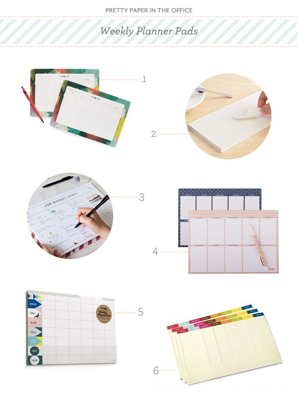 Weekly Planner Pad Round Up by Oh So Beautiful Paper