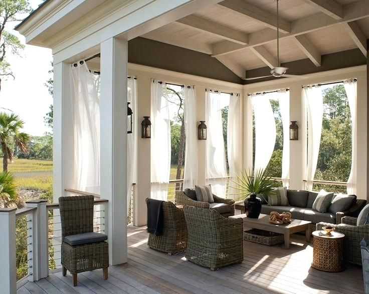 Patio Deck Designs, How To Hang Outdoor Curtains On Patio