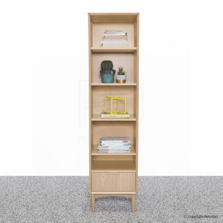 Looking for modern bookshelves and bookcase? Check out the Luka Scandinavian style Narrow Bookcase, complete the modern look. Buy online with fast delivery!
