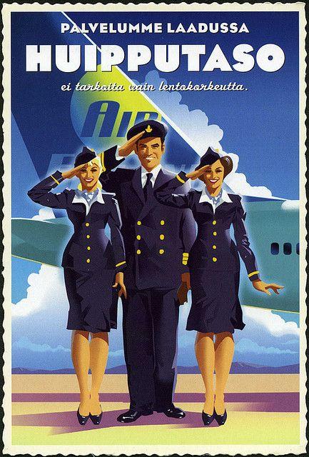 Poster for Air Finland or Finnair?