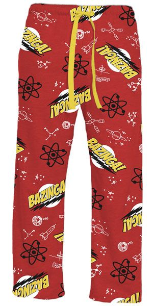 The Big Bang Theory Bazinga Red Adult Lounge Pants $22.95 -OMG NEED THESE @Ashley Logan