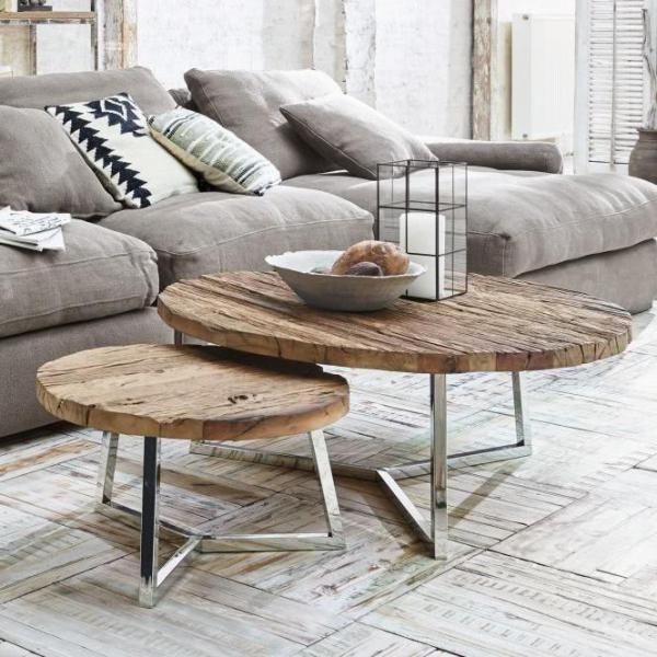 Couchtisch 2er Set Nevada Pinol Couchtisch Wohnzimmer Tisch Weiss Couchtisch Industrial
