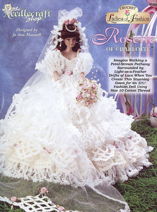 Exelent Free Crochet Barbie Doll Wedding Dress Patterns Image