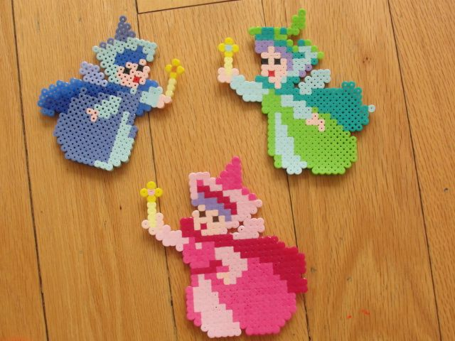Cinderella fairies perler beads by Malaquita Safar C. - Perler® | Gallery