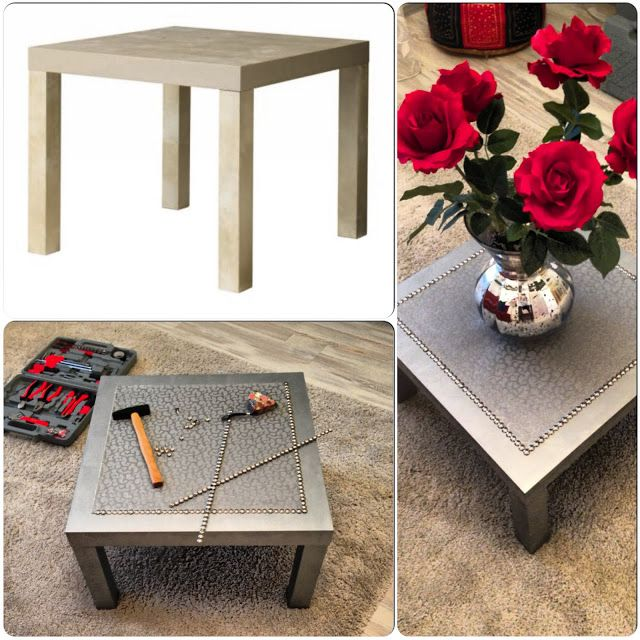 Ikea Hack: Silver coffee LACK table. Love this!