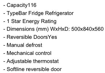 Mini Fridge Dimensions