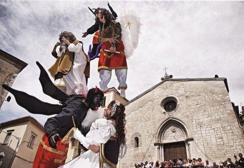 Processione dei Misteri a Campobasso il 22 Giugno 2014, nei giorni del Corpus Domini
