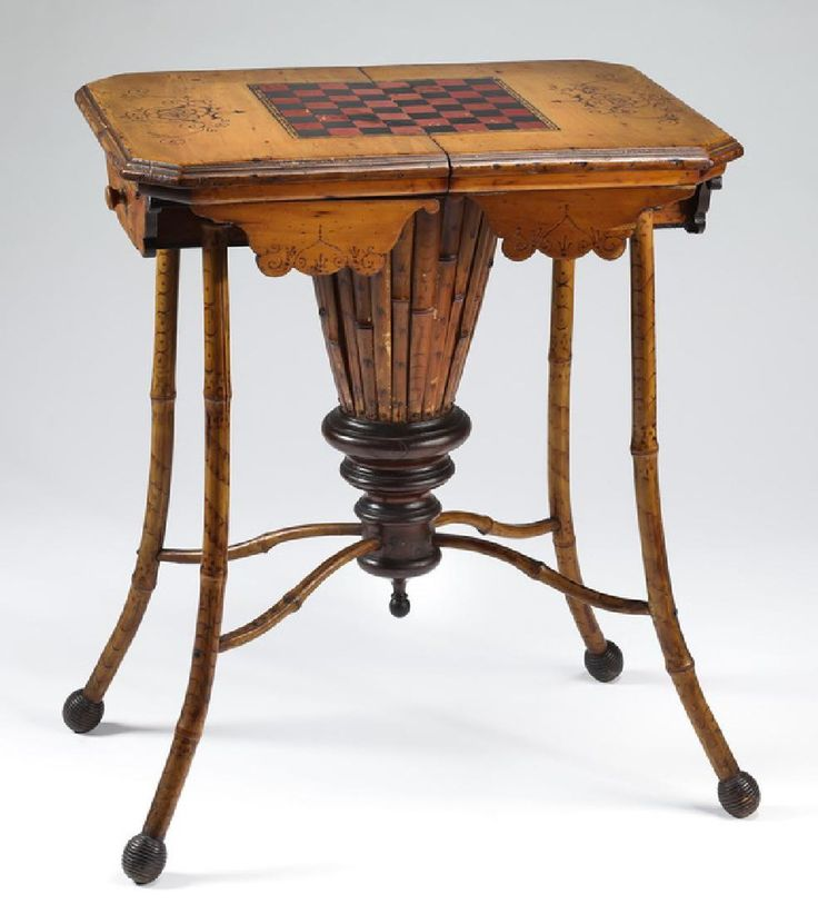 Victorian games and work table