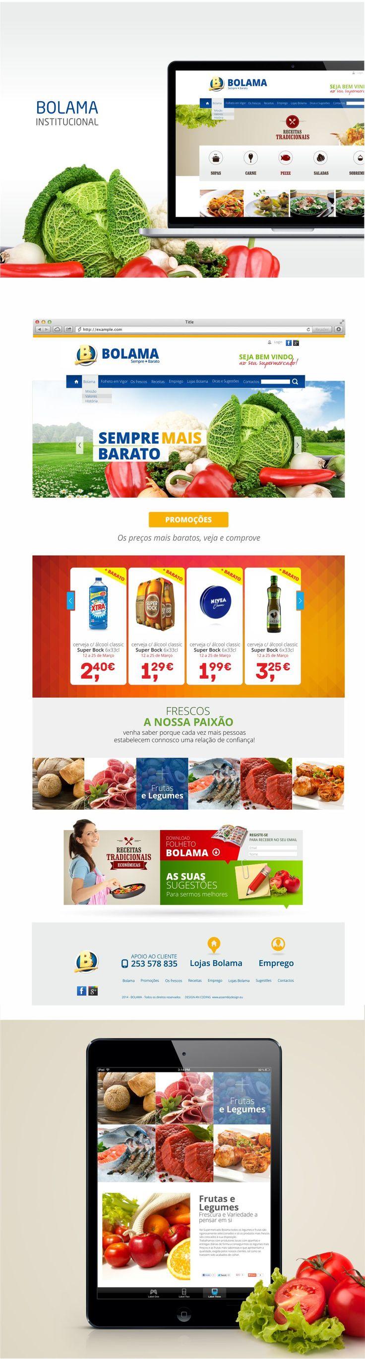 Supermercados Bolama #WebDesign #WebsiteInstitucional #ResponsiveDesign
