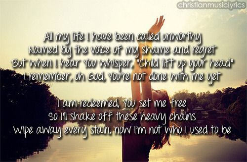 Big Daddy Weave LYRICS - Redeemed Lyrics
