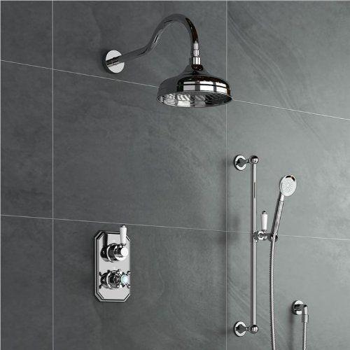 Traditional Mixer Shower Kit Thermostatic Valve Rain Head + Hand Held SS2048 iBath http://www.amazon.co.uk/dp/B00ESDXSJK/ref=cm_sw_r_pi_dp_d5izvb1W0Z696