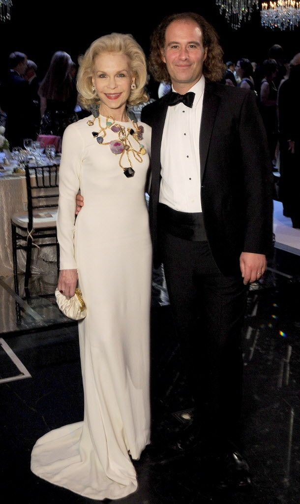 Lynn Wyatt and Antoine Plante at the Mercury's 15th Annual Crystal Gala at The Wortham Theater
