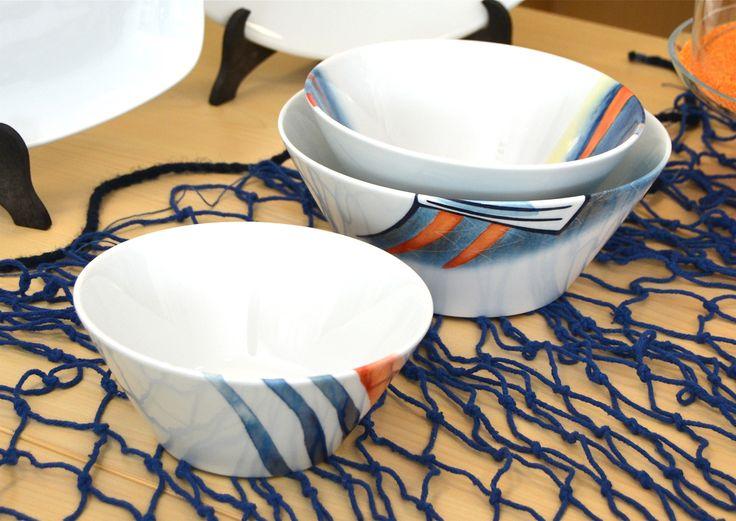 Coppe Coniche, decoro Sensazioni di mare; idea  #mare, tavola casa #estate  www.ancap.it