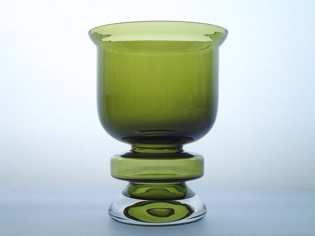 Riihimaki 'Ella' olive green cased glass vase. Designed by Nanny Still by art-of-glass, via Flickr