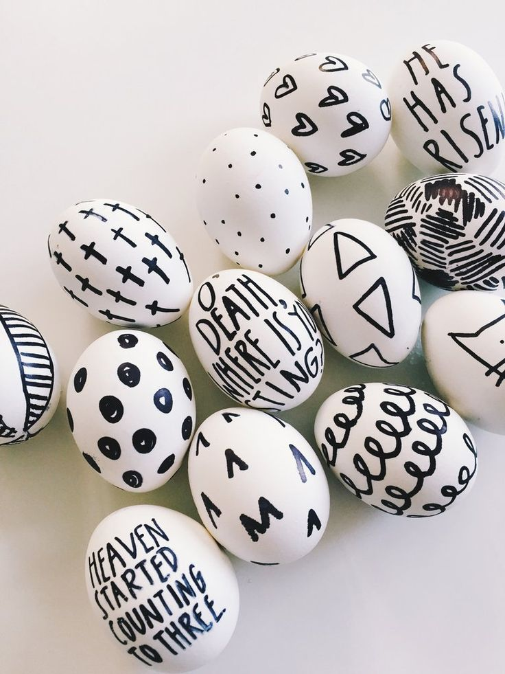 DIY Sharpie Easter Eggs