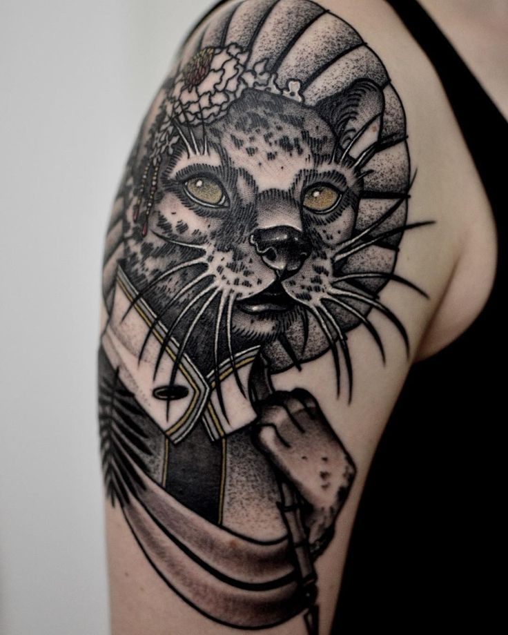 73 best images about amazing cat tattoo design ideas on for Cool cat tattoo