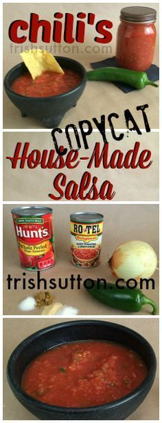Chili's Copycat House-Made Salsa; Delicious. Now, if I could just figure how to make Chili's awesome Tostada Chips! TrishSutton.com